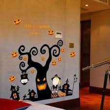 Wall Sticker/<b>3D Halloween</b> pumpkin lantern <b>Night</b> Tree | <b>Halloween</b> ...