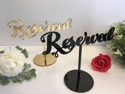 2019 <b>Reserved</b> Table <b>Sign Reserved</b> Seating <b>Sign</b> For <b>Weddings</b> ...