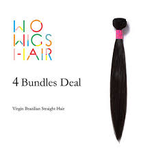 2019 Wholesale <b>WoWigs Hair</b> Brazilian Virgin Hair Straight 4 ...