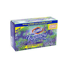 Clorox Fraganzia Fabric Softener Dryer Sheets in Lavender <b>Scent</b>