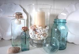 beach themed bathroom accessories idea: innovative shabby chic bathroom accessories images of shabby chic exterior on design glass seashalls holder with coral glass candle holder with seashalls
