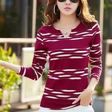 <b>Shintimes</b> Striped T Shirt Women <b>Long Sleeve</b> Woman Tshirt Top ...