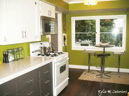 green paint in kitchen