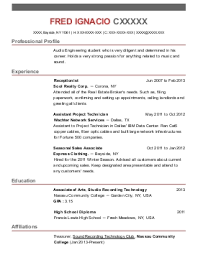 stagehand resume example  intern    north hollywood  californiafred c