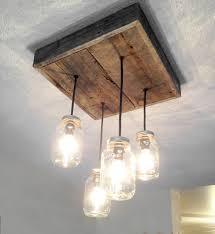 barn wood mason jar chandelier 4 jar chandelier barn board