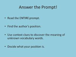 argument essay answer the prompt read the entire prompt find  answer the prompt read the entire prompt find the authors position use context