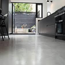 Concrete Floor Kitchen Micro Concrete Kitchen Installation Poured Resin And Concrete