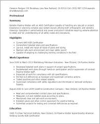 professional pipeline welder templates to showcase your talent    resume templates  pipeline welder