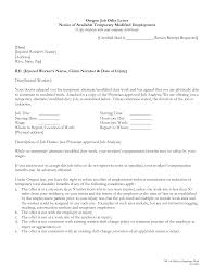 letter sample offer letters from employer sample oregon job letter sample oregon job offer letters notice of available temporary modified employment letters from