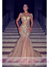 Bling Bling <b>Gold Crystal Beaded</b> Prom Dresses <b>Sexy</b> Open Back ...