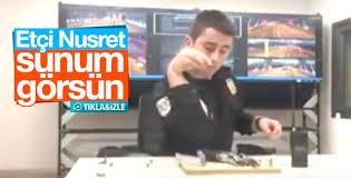 Polisin silah şovu