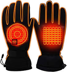 <b>Winter Electric Heated</b> Gloves Rechargeable Waterproof Battery ...