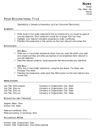 Functional Resume Template For Career Change