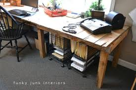 view in gallery diy home office desk recycled