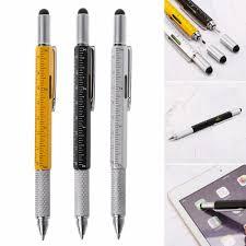 6 in 1 metal pen Multifunction Tool <b>Ballpoint Pen Screwdriver</b> Ruler ...