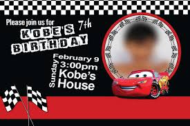 birthday invitation cars theme v1 uly maniago birthday invitation cars theme 1