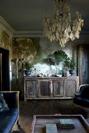 lovely sitting room with hand painted mural chandelier jason busch photographer chic crystal hanging chandelier furniture hanging