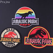 <b>Prajna Jurassic Park Patch</b> Anime Dinosaur S1 Embroidered ...
