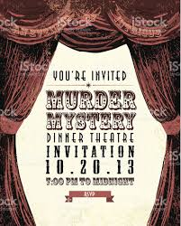 murder mystery invitation template murder mystery dinner murder mystery dinner theatre invitation template vintage design stock
