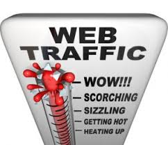 Gauge depicting Increasing Web Traffic