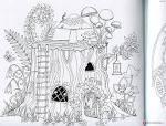 Раскраска волшебного леса