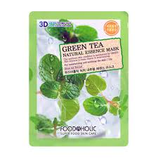 <b>3D Маска</b> для <b>лица</b> FoodaHolic Green Tea Natural Essence <b>3D</b> Mask