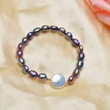 2019 <b>ASHIQI Genuine</b> 12 13mm Button <b>Freshwater</b> Pearl Bracelets ...