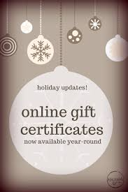 gift certificates now available year round spa salon you can get your gift certificates online at our holiday shop this is not just for the holiday season these will now be available year round