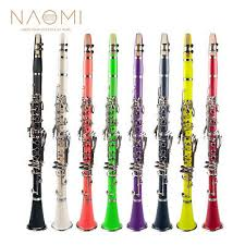 <b>NAOMI 17-Key</b> ABS Clarinet Bb Flat W/Case Gloves Cleaning Cloth ...