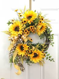 <b>Summer</b> Wreath, <b>Sunflower</b> Wreath, <b>Summer</b> Porch Wreath, Cottage ...