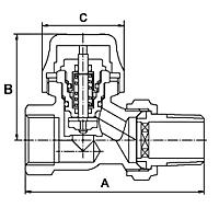 <b>Клапаны</b> радиаторные термостатические