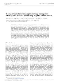 (PDF) Design of an instantaneous optimal energy management ...