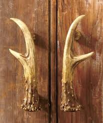 cabinets uk cabis:  pc rustic deer antler cabinet door pulls hunting cabin lodge country hardware ebay