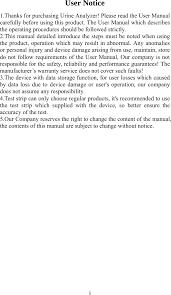 <b>BC401 Urine Analyzer</b> User Manual Contec Medical Systems