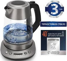 Купить <b>Чайник электрический POLARIS PWK</b> 1777CGLD, черный ...
