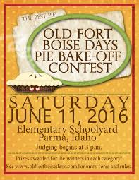 pie bake off contest old fort boise days