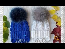 <b>Детская шапка</b>. <b>Шапка</b> спицами. Зимняя <b>шапка</b>. - YouTube