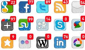 Photo of social media logos.