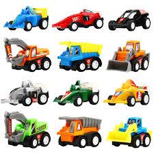 Pull Back Vehicles, 12 Pack <b>Mini</b> Assorted Construction Vehicles ...