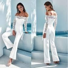 Women Sexy Elegant Off Shoulder Long Sleeve Jumpsuit ... - Vova