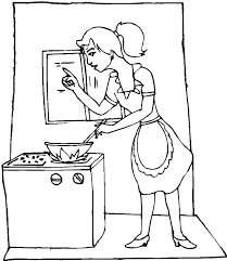 Small Picture My Mom is Cooking in the Kitchen Coloring Pages Download Print