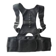 Male Female <b>Adjustable</b> Magnetic Posture Corrector Corset <b>Back</b> ...