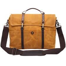 Shop <b>Retro Men's Briefcase Crazy</b> Horse Leather Canvas Laptop ...