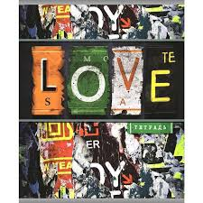 Купить <b>тетрадь</b> общую <b>Love</b> А5 96 листов в линейку на скрепке ...