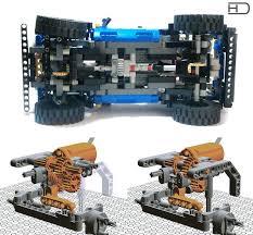 Chassis and <b>steering</b> | Lego <b>Technic</b> & Munkagépek