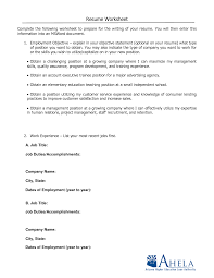 resume worksheet resume badak resume template worksheet
