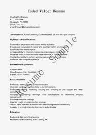 welder resume welder resume 0504