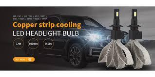yiray ampoule led 12v headlight bulbs h7 h4 9003 hb2 h1 h11 9005 hb3 9006 hb4 60w 9600lm 6000k super bright csp chips t8