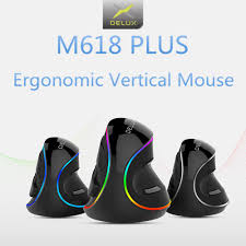 <b>Delux M618C Wireless Mouse</b> Ergonomic Vertical 6 Buttons Gaming ...