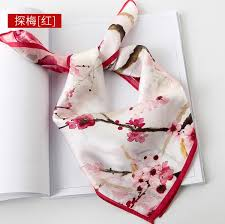 2019 <b>Spring</b> And Autumn New <b>Silk Scarves</b> Female Small Square ...